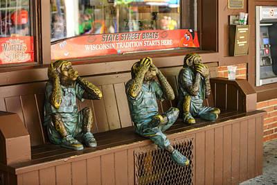 Three Wise Monkeys Art Print by Chris Smith