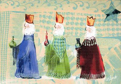 Christmas Card Digital Art - Three Wisemen by Arline Wagner