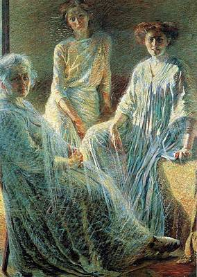 Boccioni Painting - Three Women Umberto Boccioni by MotionAge Designs
