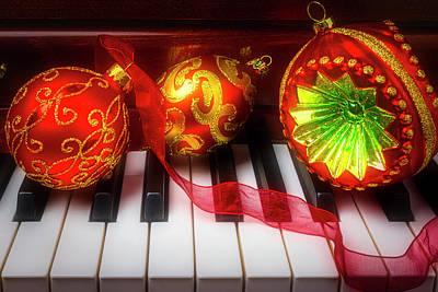 Photograph - Three Wonderful Ornaments by Garry Gay