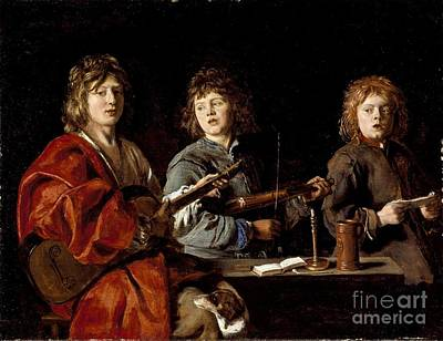 Painting - Three Young Musicians by Celestial Images