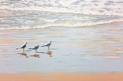 Painting - Three's A Crowd by Anne Gardner