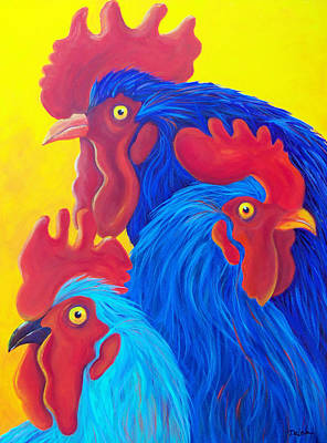 Painting - Three's A Crowd by Susan DeLain