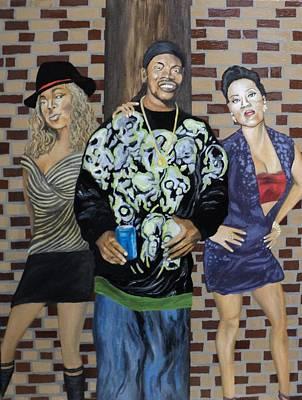 Keyshia Cole Painting - Three's Company by Angelo Thomas