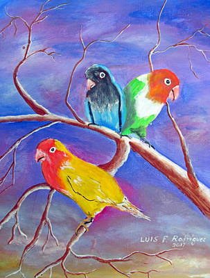 Painting - Threesome by Luis F Rodriguez