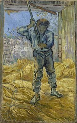 Painting - Thresher After Millet Saint Remy De Provence  September 1889 Vincent Van Gogh 1853  1890 by Artistic Panda