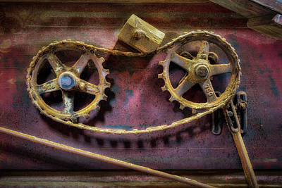 Photograph - Thresher Gears by James Barber