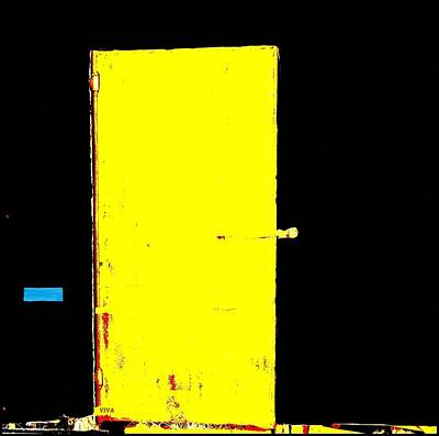 Photograph - Threshold - Yellow Door by VIVA Anderson