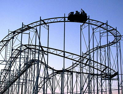Roller Coaster Photograph - Thrill Ride by Colleen Kammerer