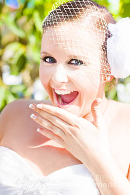 Exuberant Photograph - Thrilled Bride by Jorgo Photography - Wall Art Gallery