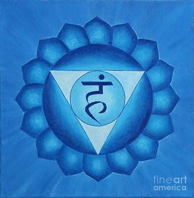 Wall Art - Painting - Throat Chakra by Anna Martinsen