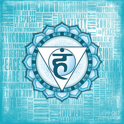 Digital Art - Throat Chakra - Awareness by David Weingaertner