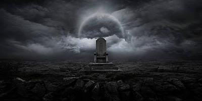 Dark Digital Art - Throne by Zoltan Toth