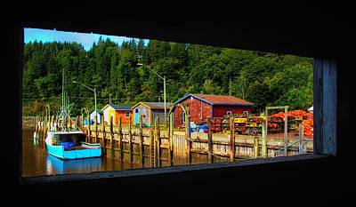 Photograph - Through A Covered Bridge Window by Carolyn Derstine