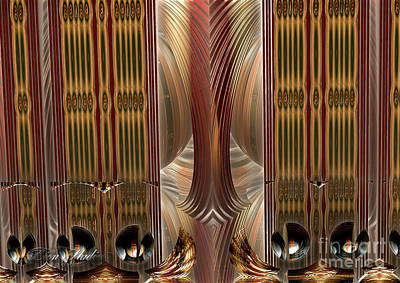 Digital Art - Through A Gilded Veil by Melissa Messick