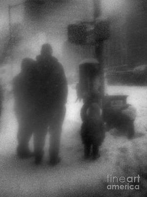 Photograph - Through A Glass Darkly - Winter In New York by Miriam Danar