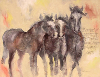 Horse Painting - Through A Horses Ears by Ron Patterson