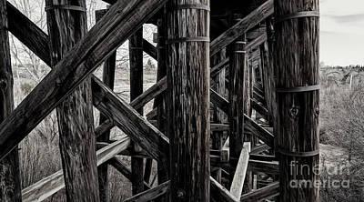 Photograph - Through A Trestle by Brad Allen Fine Art