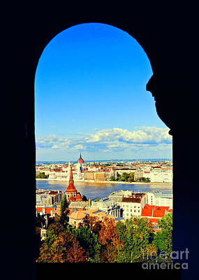 Through An Arch In Budapest Art Print by Madeline Ellis
