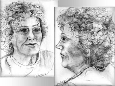 Live Your Life Drawing - Through Her Eyes by Carol Allen Anfinsen