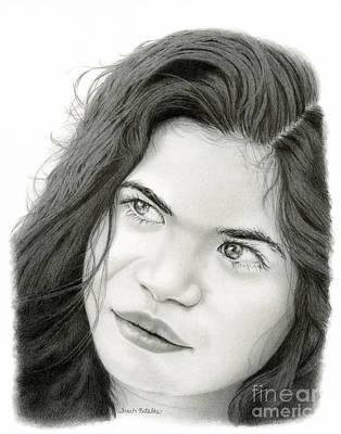 Gazing Drawing - Through Juliet's Eyes by Sarah Batalka