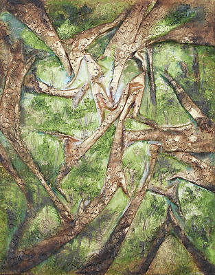 Mixed Media - Through Lacy Branches by Angela Stout