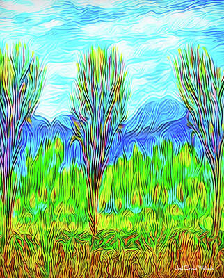 Digital Art - Through Morning Meadow Softly by Joel Bruce Wallach