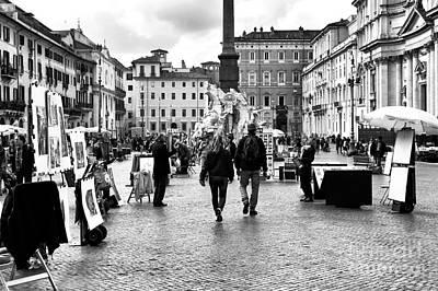 Photograph - Through Piazza Navona by John Rizzuto