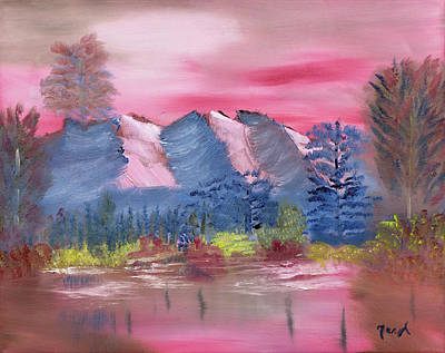 Altitude Painting - Through Rose Colored Glasses by Meryl Goudey