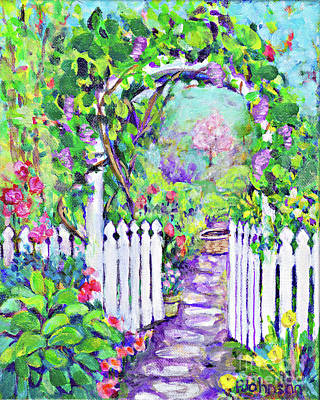 Painting - Through The Arbor By Peggy Johnson by Peggy Johnson