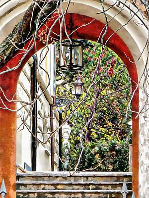 Photograph - Through The Archway To The Garden In Rome by Dorothy Berry-Lound