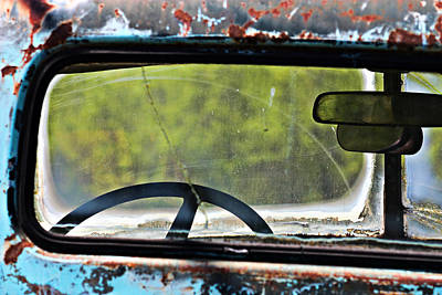 Photograph - Through The Back Window- Antique Chevrolet Truck- Fine Art by KayeCee Spain