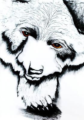 Painting - Through The Bears Eyes by Ayasha Loya