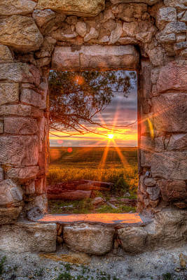 Prairie Photograph - Through The Bedroom Window by Thomas Zimmerman