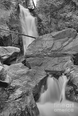 Photograph - Through The Boulders At Falls Creek Falls Black And White by Adam Jewell