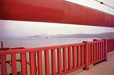 Through The Bridge View Of San Francisco Art Print by Steve Ohlsen