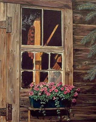 Through The Cabin Window Art Print by Lynda  Lawrence