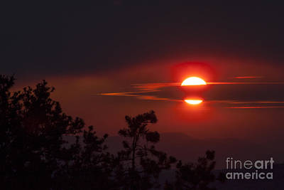 Dark Photograph - Through The Clouds by Carolyn Brown