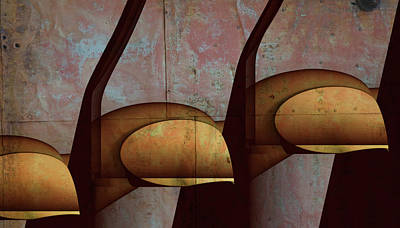 Curvilinear Painting - Through The Cracks by Barry W King