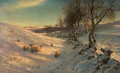 Through The Crisp Air Print by Joseph Farquharson