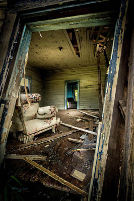 Mess Photograph - Through The Crooked Window by Marvin Spates