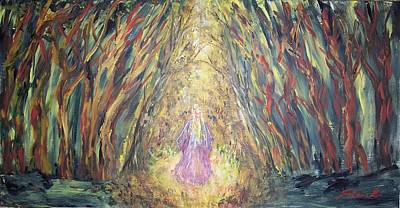 Painting - Through The Dark Forest by Mary Sedici