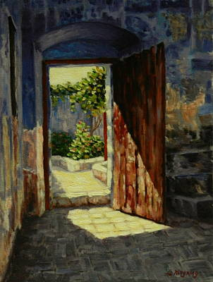 Through The Door, Peru Impression Art Print