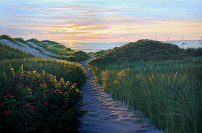 Through The Dunes Art Print by Bruce Dumas