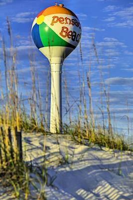 Watertower Photograph - Through The Dunes Of Pensacola Beach by JC Findley