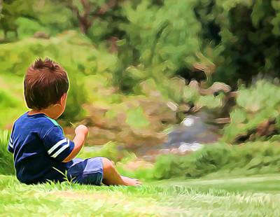 Mixed Media - Through The Eyes Of A Child by Pamela Walton