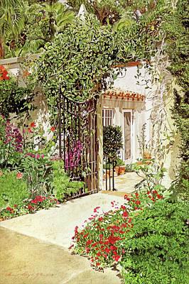 Vines Painting - Through The Garden Gate by David Lloyd Glover