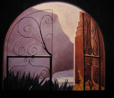 Painting - Through The Gate by Keith Gantos