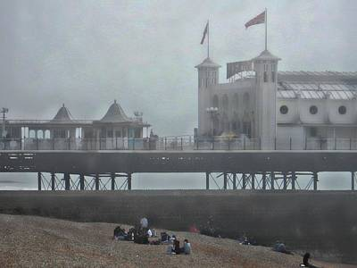 Photograph - Through The Gloom To Brighton Pier by Dorothy Berry-Lound