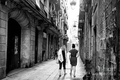 Photograph - Through The Gothic Quarter Barcelona by John Rizzuto